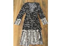 Red LK Bennett and Black & White BCBG MaxAzria Dresses Size 10 EUC