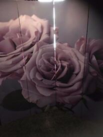 Purple Room Divider With Large Rose