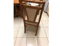 Solid wood table and chairs extending table