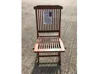 Brand new and boxed hardwood folding garden chairs for sale 8 left selling at £18.00 Each.