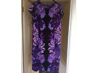 Wallis dress - purple flowers (XL)