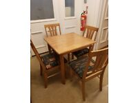 Four seater table and chair set