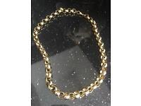 Men's Stunning 9CT Gold And Heavy Belcher Chain!! Hallmarked. 4oz.