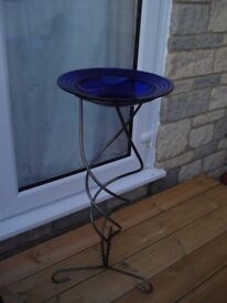 Glass bowl on a stand
