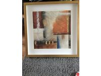 Gorgeous boxed framed abstract print 78cm square