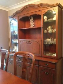 Solid mahogony sideboard and display cabinet (worth £2,000)