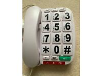 Corded Telephone with Large Buttons and Numbers