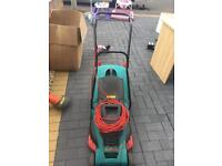 Bosch lawn mower with trimmer