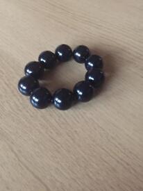 Black bead bangle