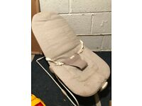Cream baby rocker with vibration function