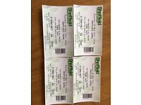 4 X Take That Tickets Standing May 30th Sheffield Arena