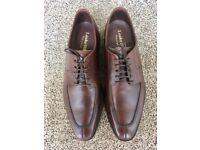Men's Loake Avon split Toe Derby Dark Brown shoes, size 10