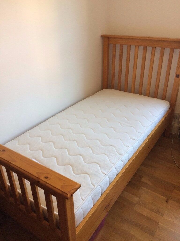 Single Bed frame and John Lewis Luxury Mattress | in Archway, London ...