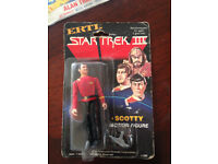 Star Trek Figures - Scotty, Spock and Kirk - Collectables