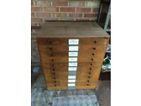 A LARGE SET OF VINTAGE/ANTIQUE ARCHITECTS DRAWERS Circa 1950s ,A NICE VINTAGE STORAGE ITEM