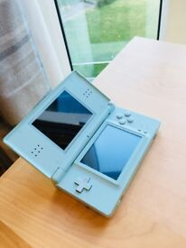 Turquoise Nintendo DS very good condition with case and charger.