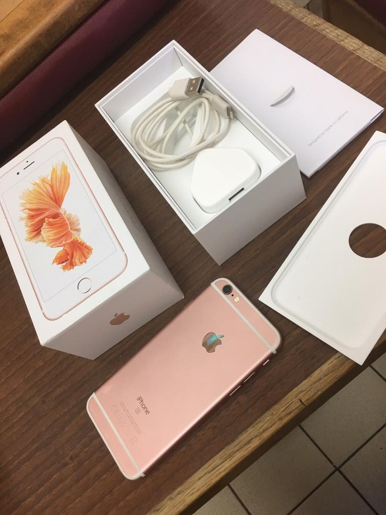 iPhone 6s 16gb Unlocked rose goldin Leicester, LeicestershireGumtree - iPhone 6s 16gb Unlocked rose gold Apple warranty till august in excellent condition no offer