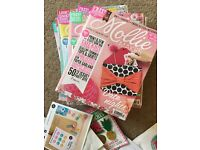 Mollie Makes Craft Magazine Bundle 16 copies with unused kits (pre owned)