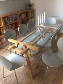Set of 8 Kitsch dining chairs from Made in Willow Grey