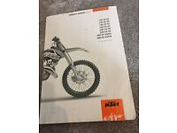 Ktm 150sx owners manual