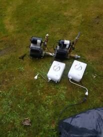 2 water pumps 2 handy heaters