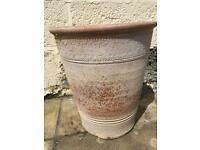 Terracotta plant pots x2