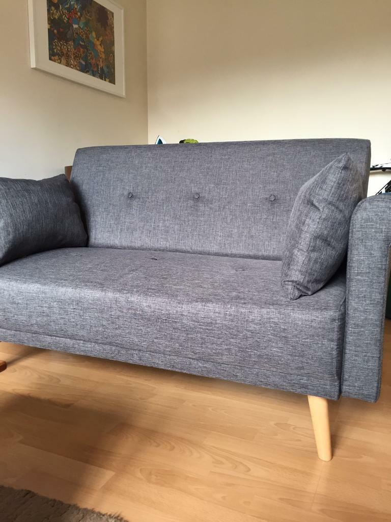 Argos Home 2 Seater Charcoal Grey Fabric Sofa In A Box Reduced