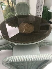 Glass tabletop, dining/conservatory new condition, round smoked glass 42 inch diameter 10mm thick
