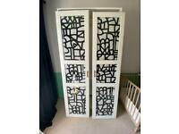 Ikea Pax wardrobe with glass doors