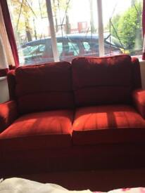2 seater and 1 seater sofa set