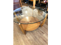 RETRO Original Glass Round Coffee Table - free local delivery size Diameter 30 in Height 17 in