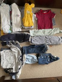 Bundle of 6-9 months baby boy clothes