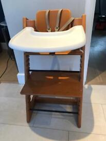 Stokke Tripp Trapp highchair with baby sit, harness and table