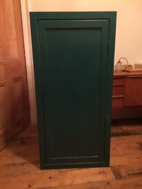 Free corner kitchen or utility cupboard cabinet unit painted in Farrow & Ball Vardo