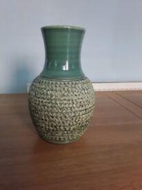 Denby Vase, green