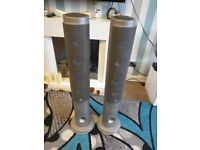 TALL FLOOR SPEAKERS PAIR MINISTRY OF SOUND GOOD CONDITION WORKING
