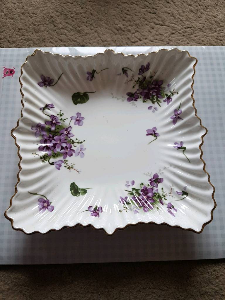 Victorian Violets dish