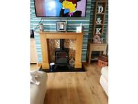 Fireplace from next electric stove
