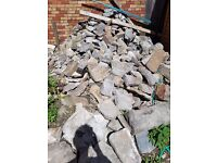 Stone for walling - stone wall. Job lot