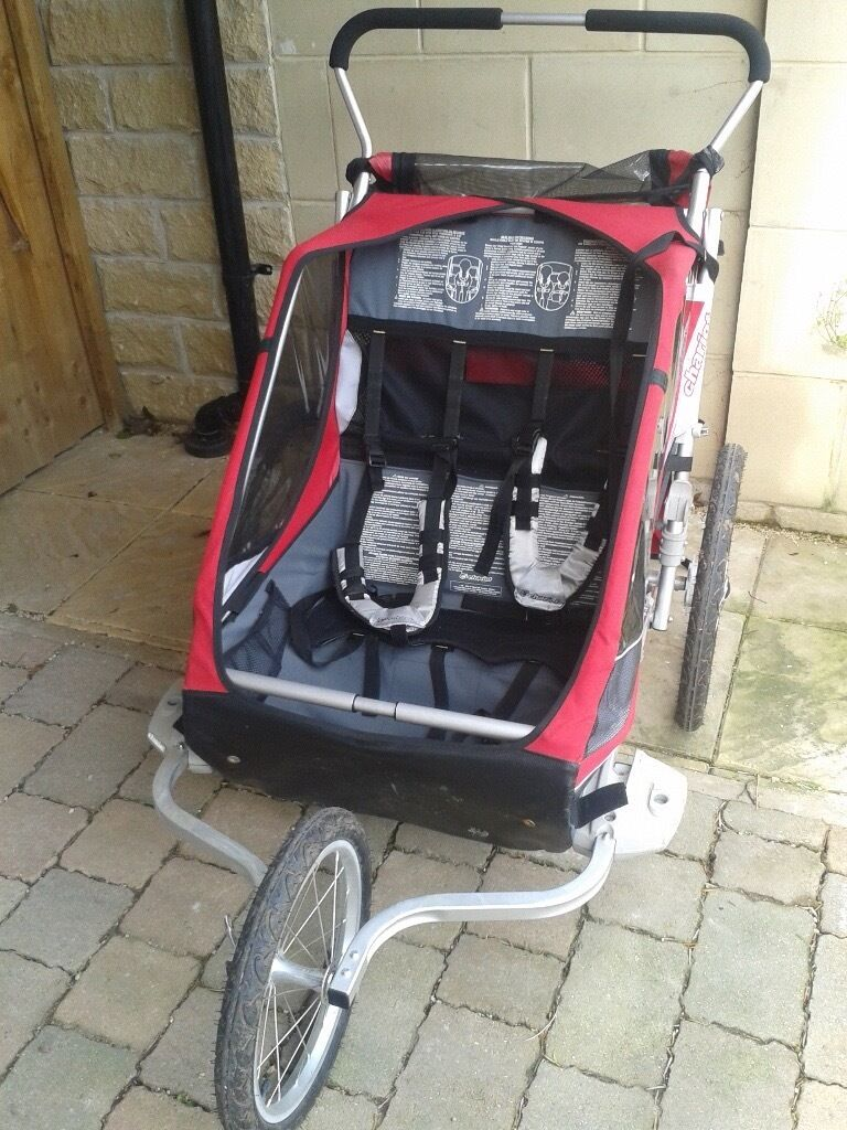 chariot cougar double stroller running buggy and bike. Black Bedroom Furniture Sets. Home Design Ideas