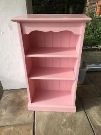 Solid Pine Pink Bookshelf