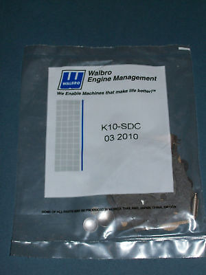 GENUINE WALBRO CARBURETOR REPAIR KIT # K10-SDC