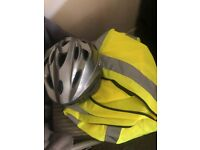 Sports Direct Helmet and Reflective Vest