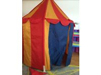 IKEA play tent - circus style