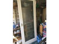 Vintage old style glass door