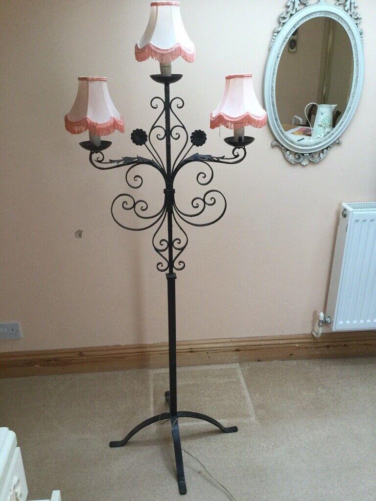 Antique Ornate Wrought Iron Floor Lamp In Saxmundham Suffolk Gumtree