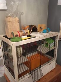 Lovely Wooden Small animal cage