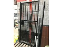 New steel side / security gate galvanised and powder coated finish