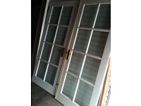 FRENCH DOORS & FRAME, GOOD CONDITION
