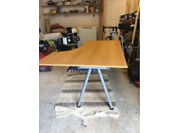 IKEA Galant corner desk, birch veneer.